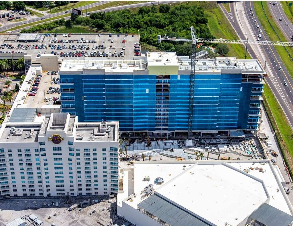 Hard Rock Casino East Tower Tampa nearing completion